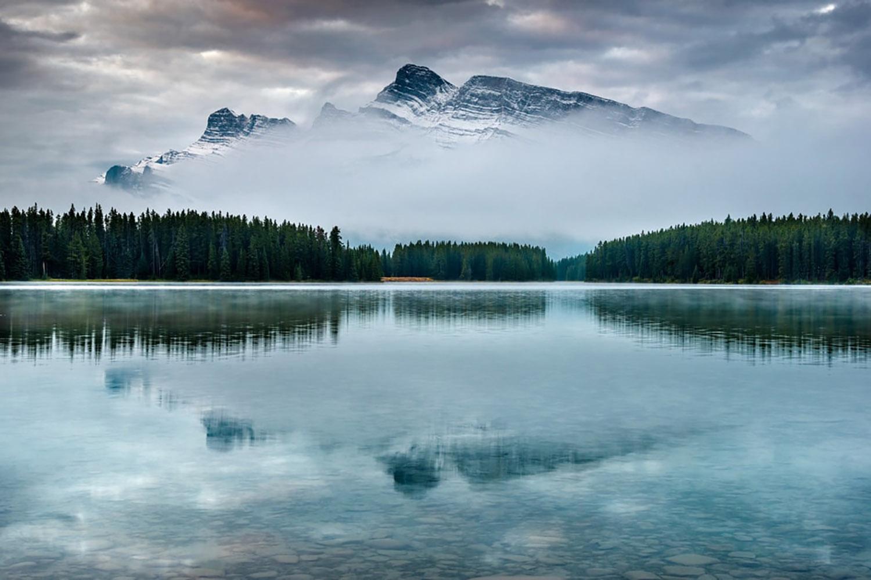 lake minnewanka ghost town canada