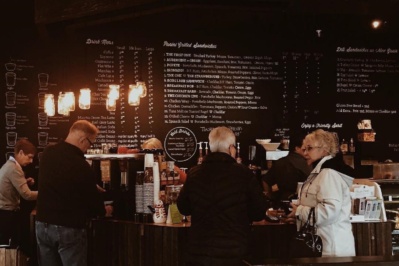 cozy coffee shops calgaryFriends Cappuccino Bar & Bake Shop