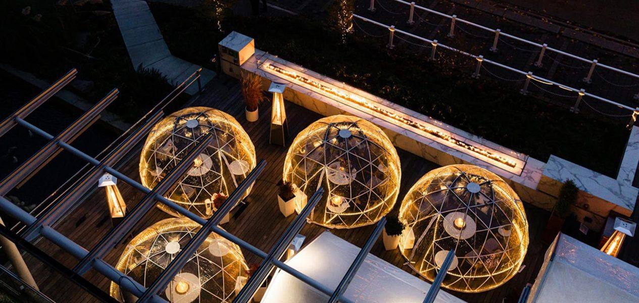 h tasting lounge secret garden dining dome