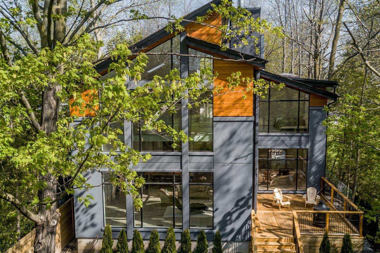 cabin in the woods purple bricks