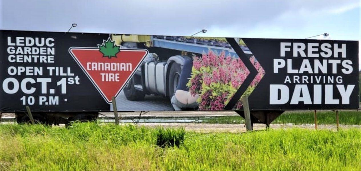 Canadian Tire gets 'cheeky' on their new Alberta billboard