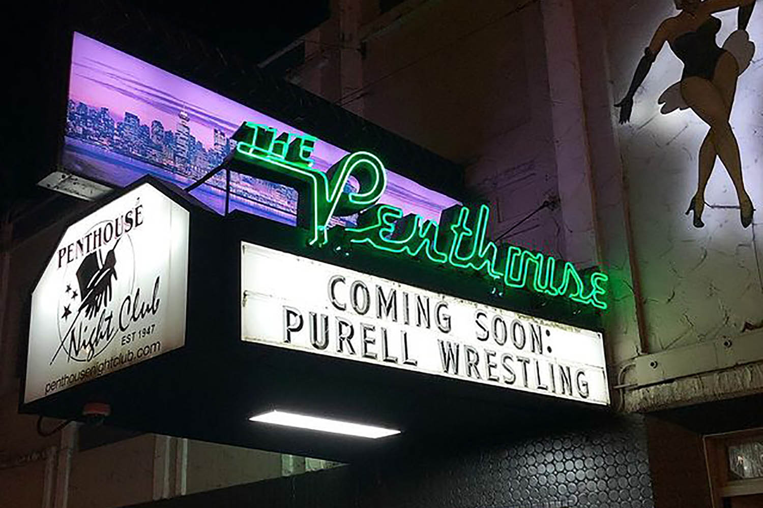 the penthouse vancouver sign