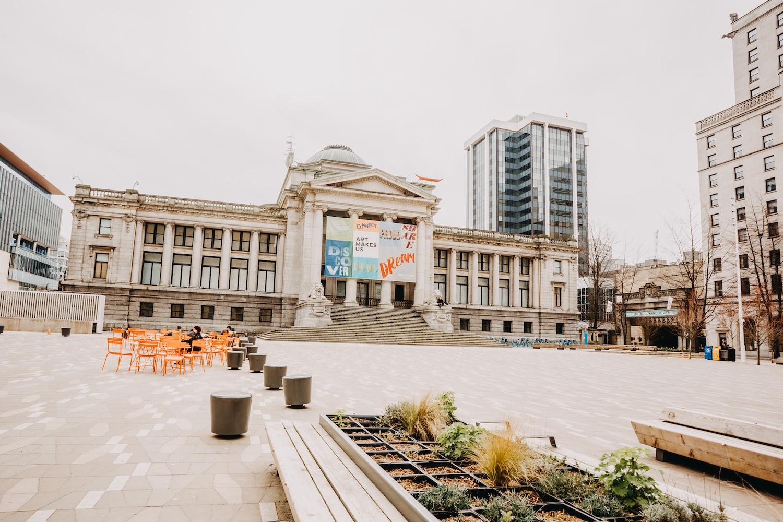 vancouver art gallery public plazas
