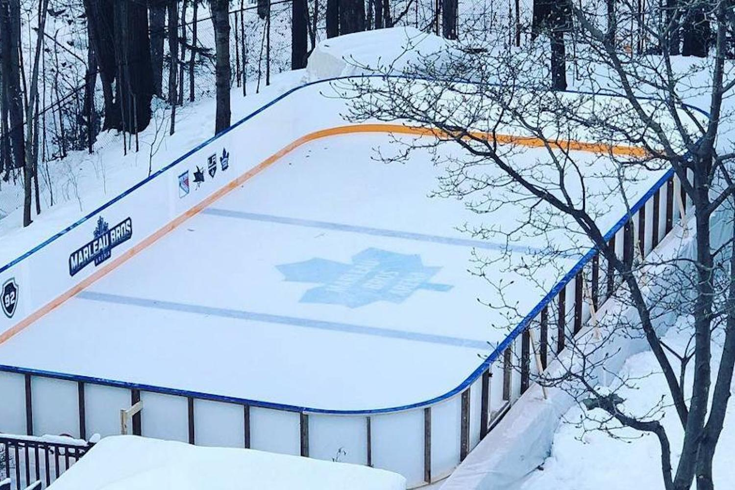 This Edmonton Dad Is Offering Very Impressive Rink Kits For Your Backyard This Winter Curiocity Group Inc Outdoor rink kit edmonton