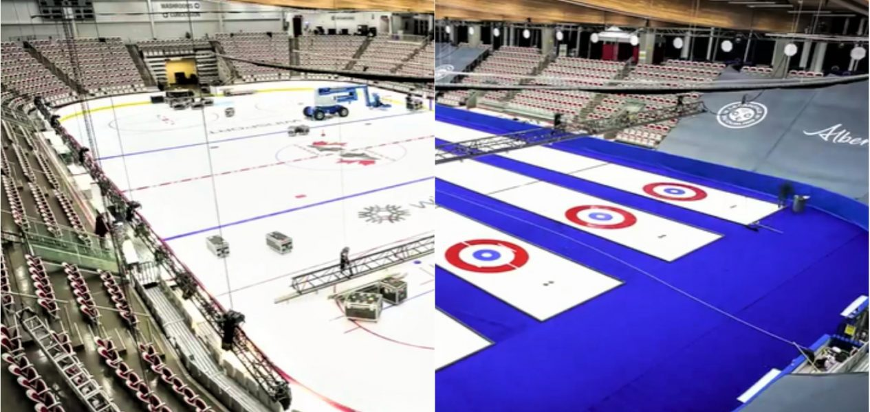 Watch Winsport transform ahead of hosting Canada's curling bubble