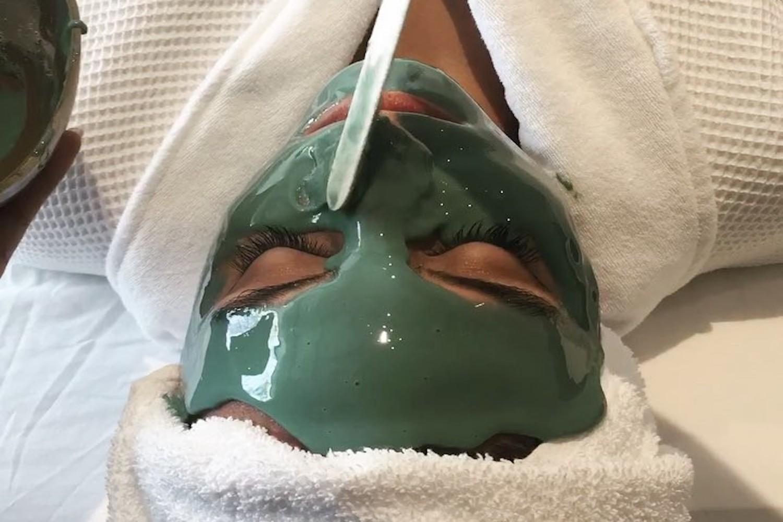 woman mask elmwood spa