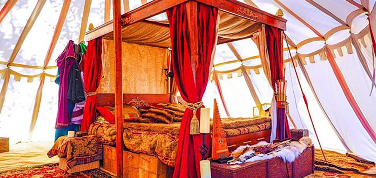 You can rent a yurt in this medieval community outside of Calgary