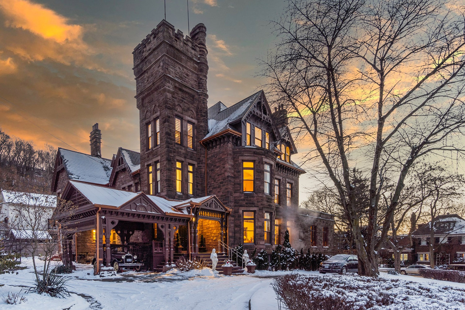 There's a $9 million castle on the market in Hamilton right now