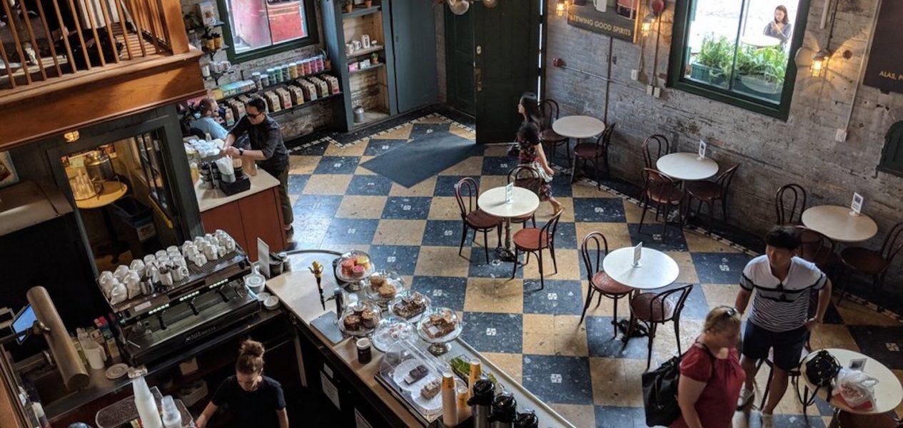 balzac's coffee interior