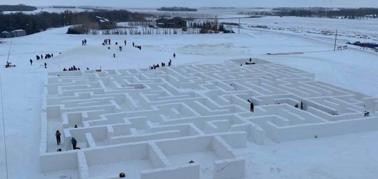 world's largest snow maze