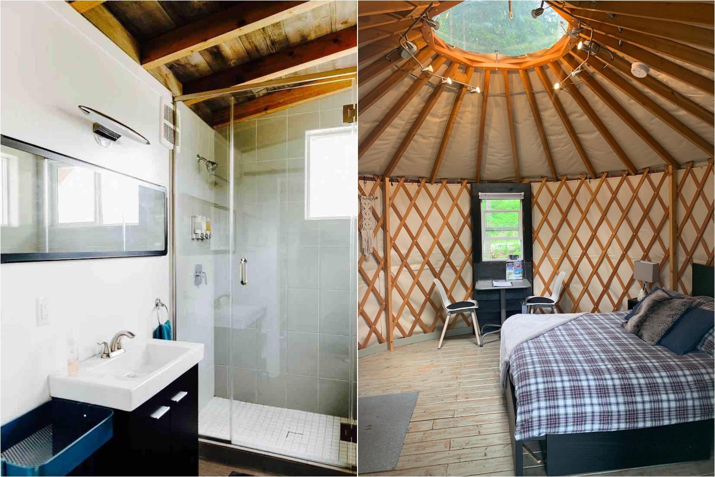 two ravens yurt golden bc airbnb