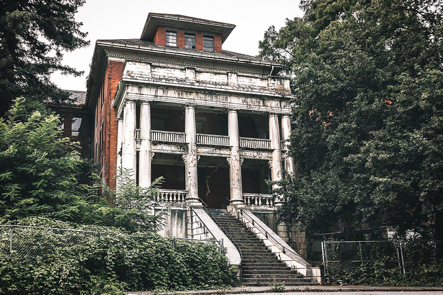 riverview hospital abandoned filming location west lawn building