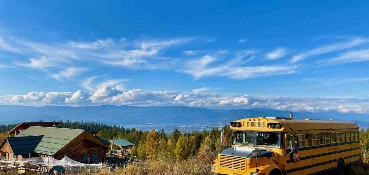 school bus airbnb