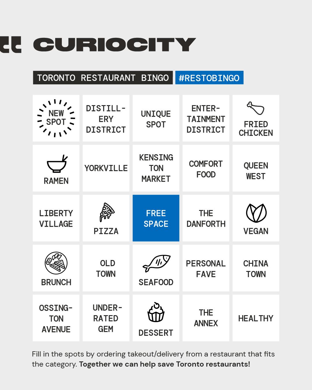 toronto restaurant bingo