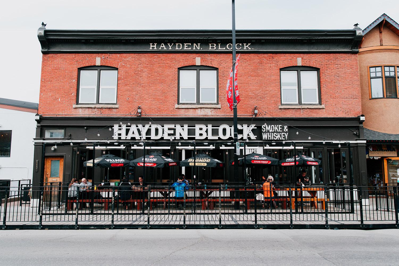 hayden block takeout