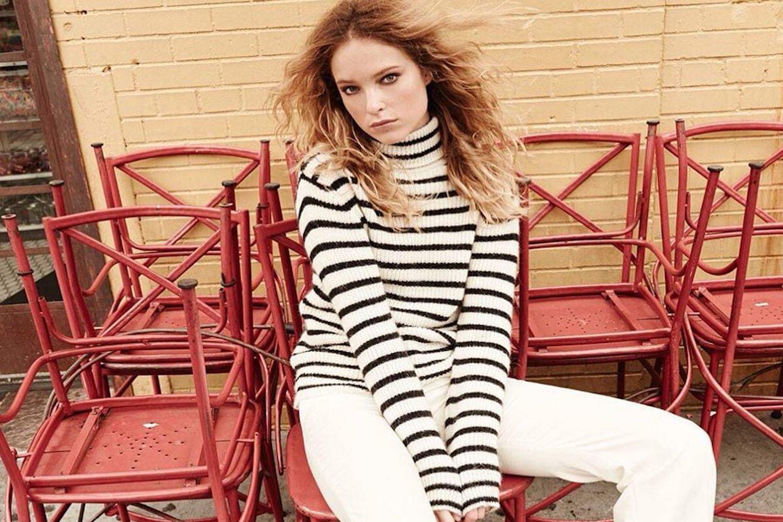 girl vintage stripes
