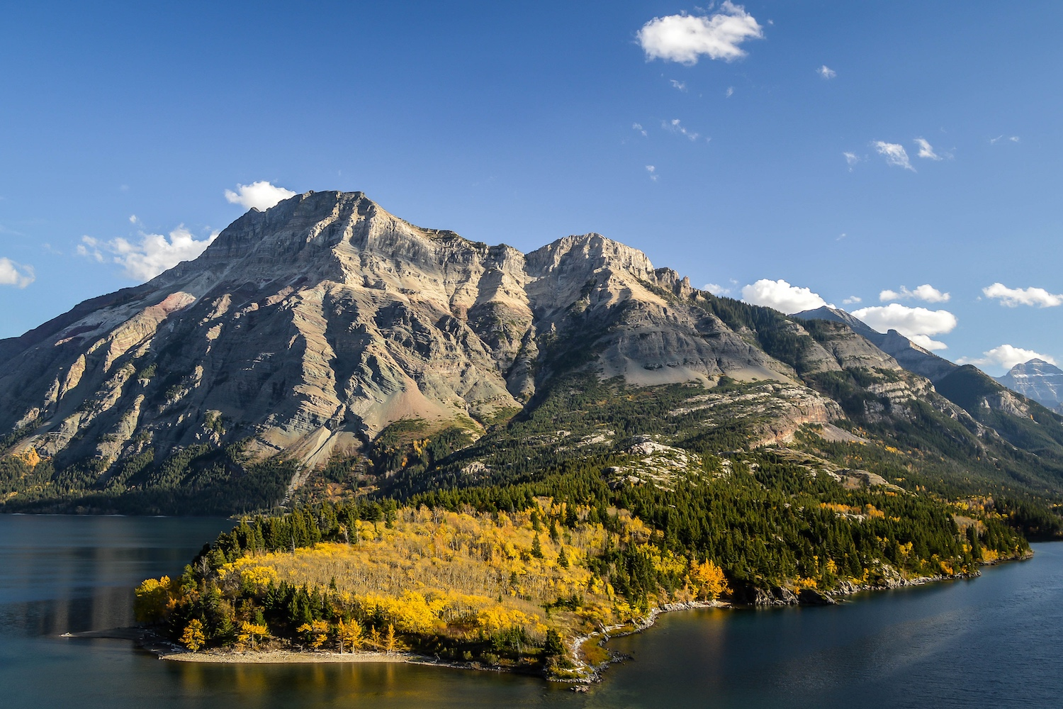 waterton lakes fall colours alberta
