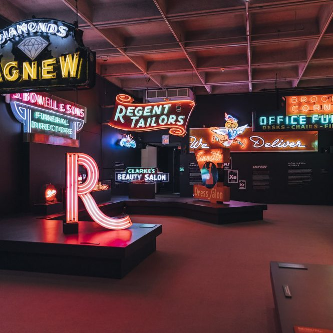 museum of vancouver neon exhibit