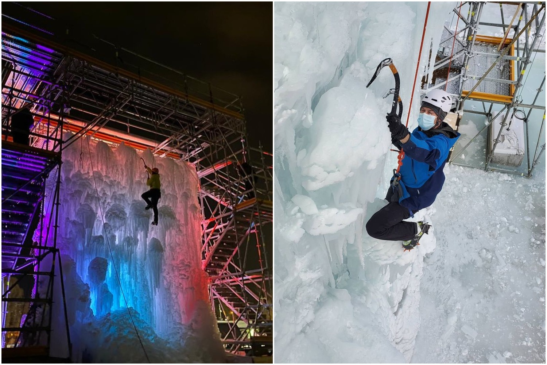 ice climbing wall winter edmonton