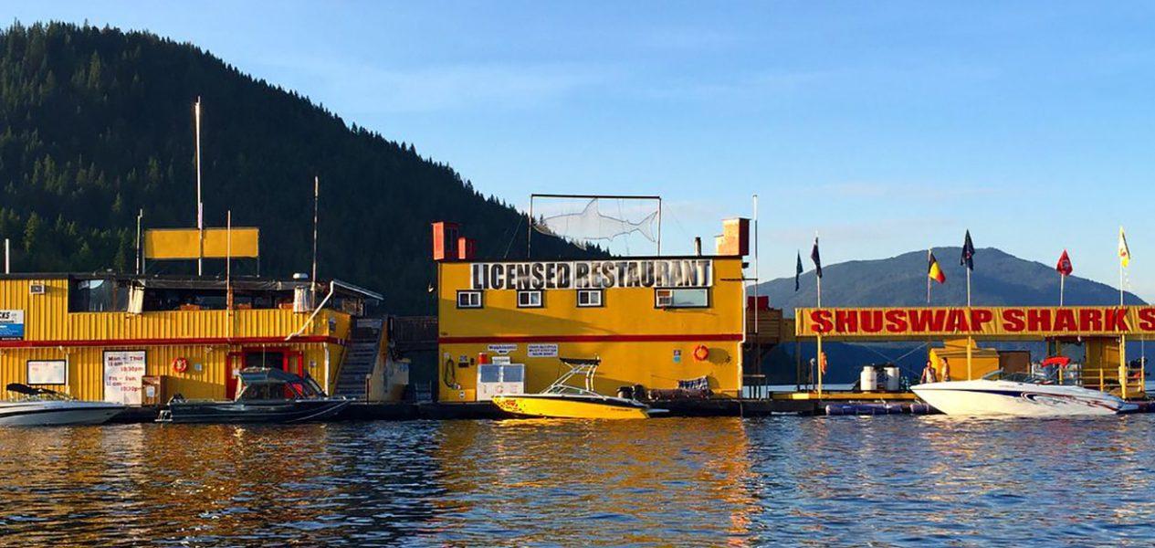 shark shack floating restaurant canada