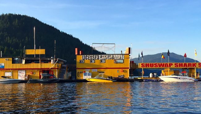 shark shack floating restaurant canada
