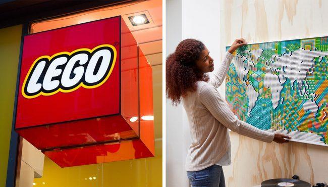 lego world map largest set