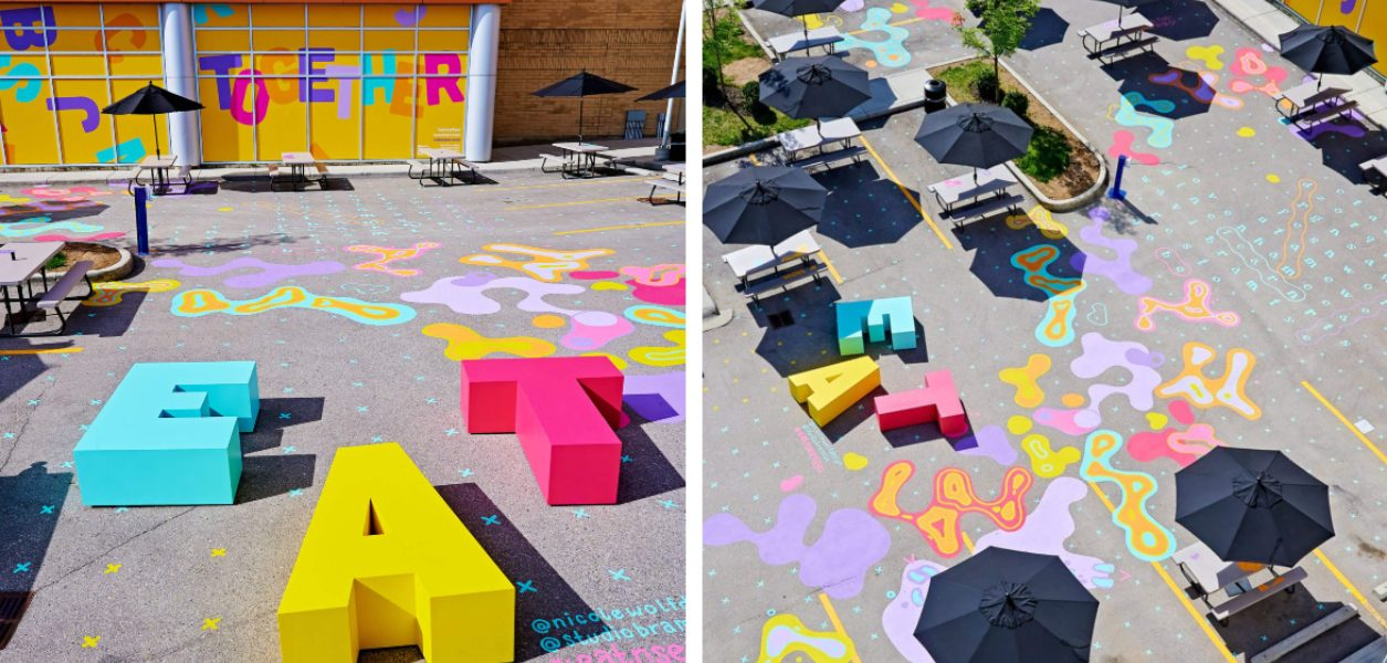 Eat & play at this colorful COVID-safe patio space in Calgary