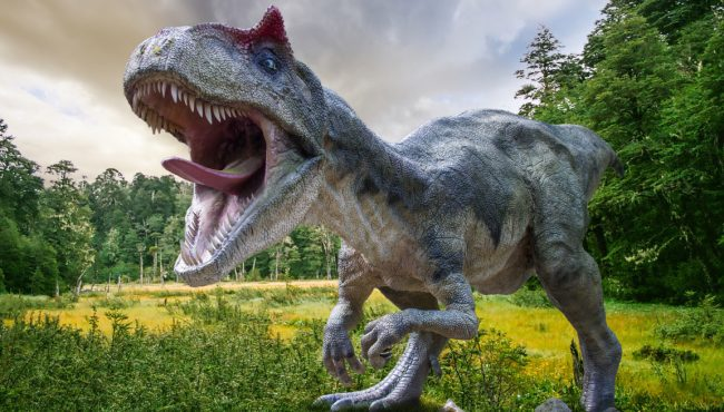 Explore a forest full of life-like dinosaurs at Alberta's own Jurassic Park