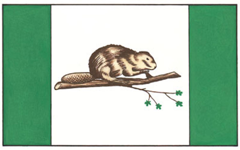 canada flag beaver