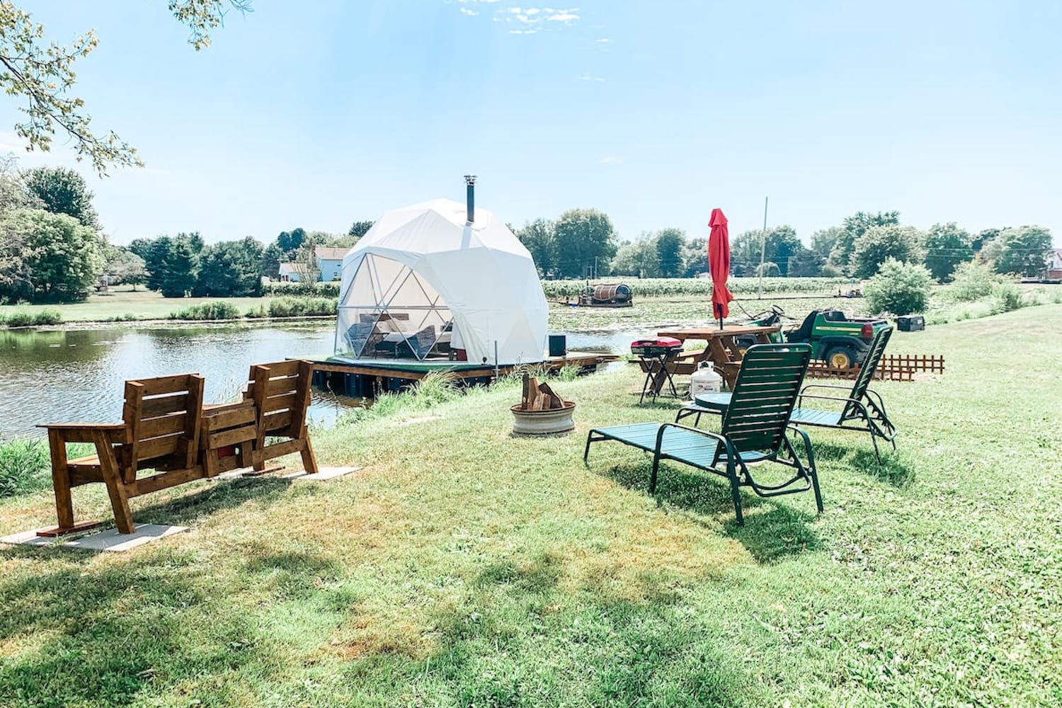 floating geodesic dome