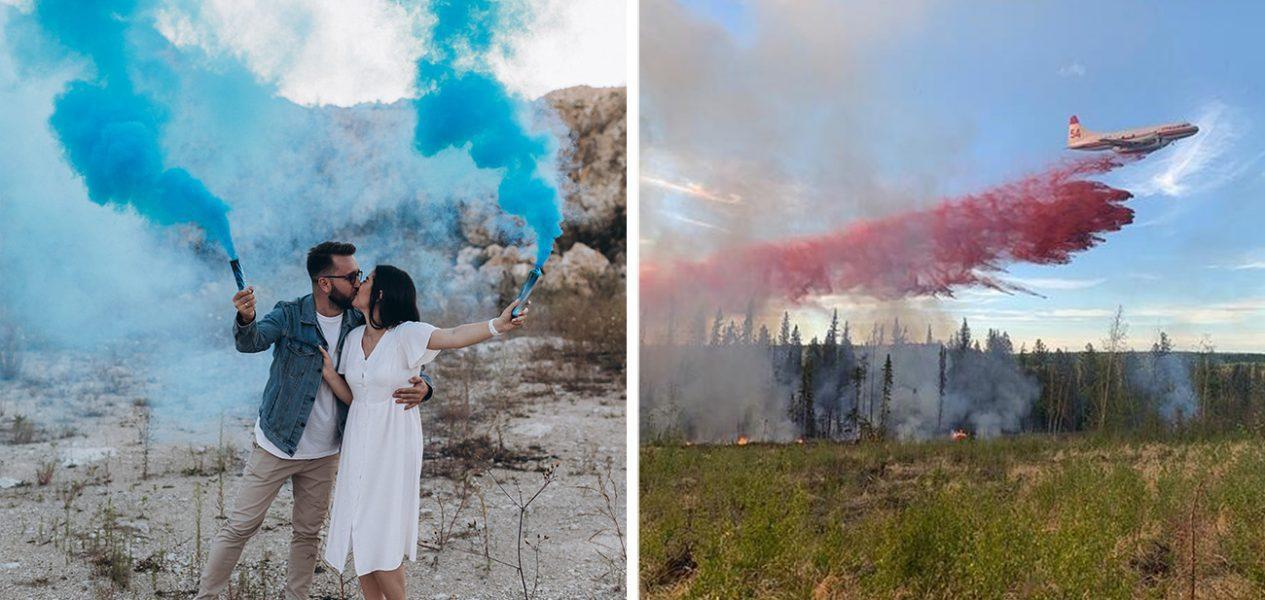 gender reveal fire alberta