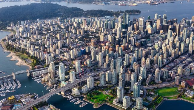 vancouver aerial summer