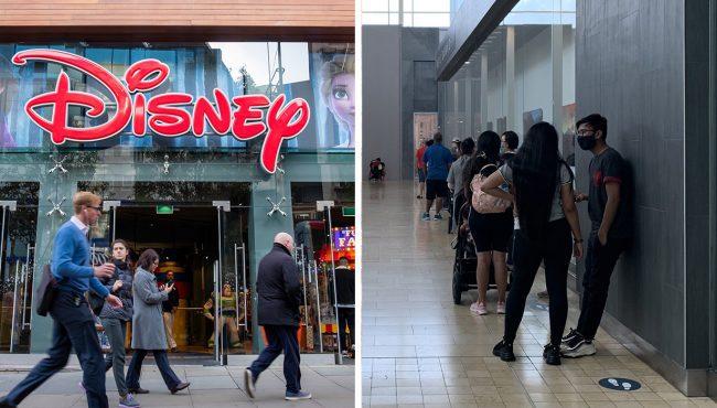 disney stores canada lines