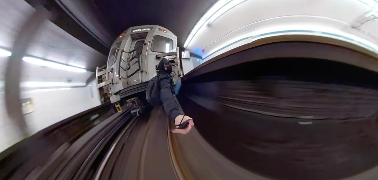 toronto subway train surfing