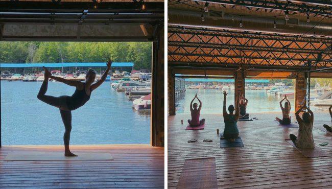 boathouse yoga muskoka