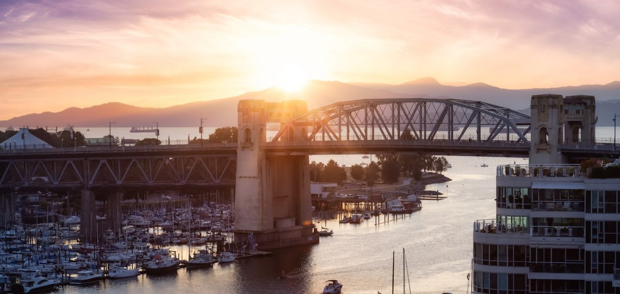 vancouver summer sunset