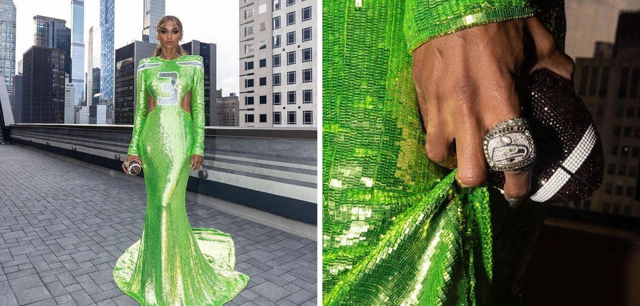 Ciara's Seahawks dress