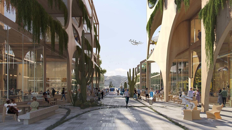 telosa city in the desert