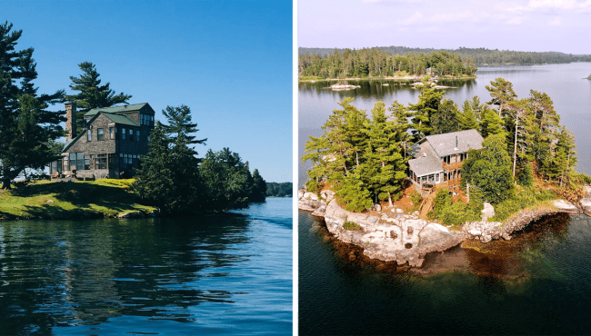 private island cottage for rent ontario