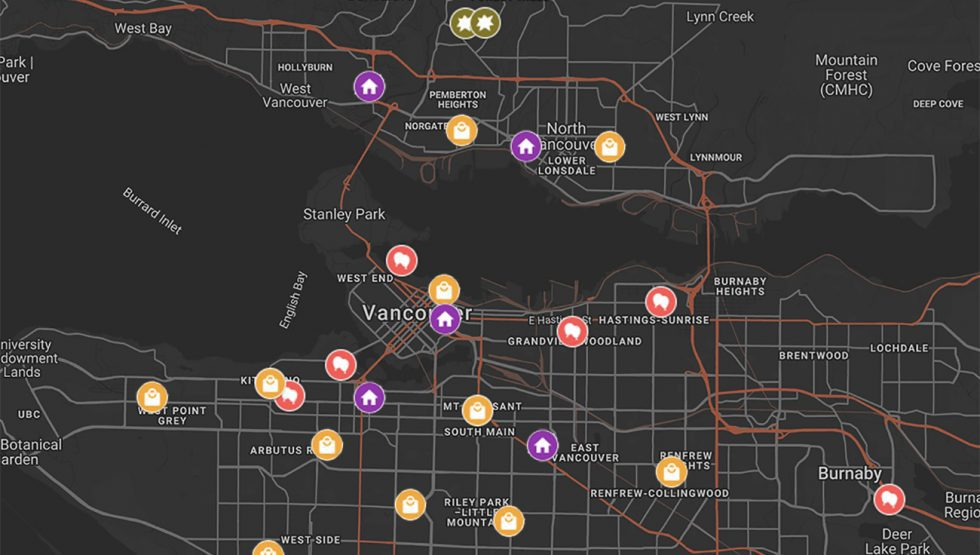 vancouver trick or treat map