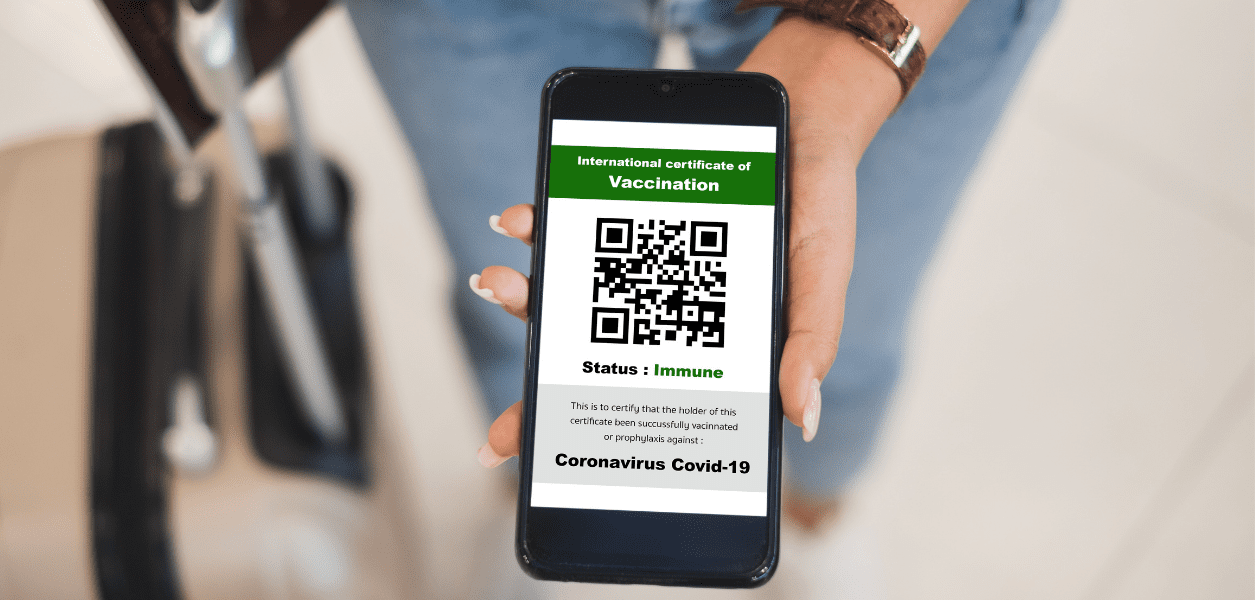 Brand new vaccine passports with a QR code are now available in Alberta