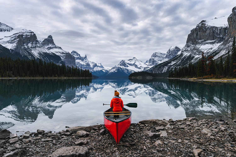 jasper canoe mjs-loaded aligne lake fall